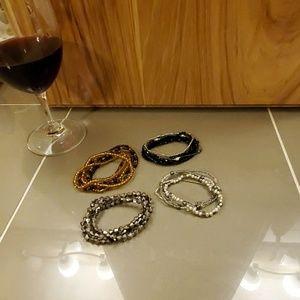 Elastic bracelet sets